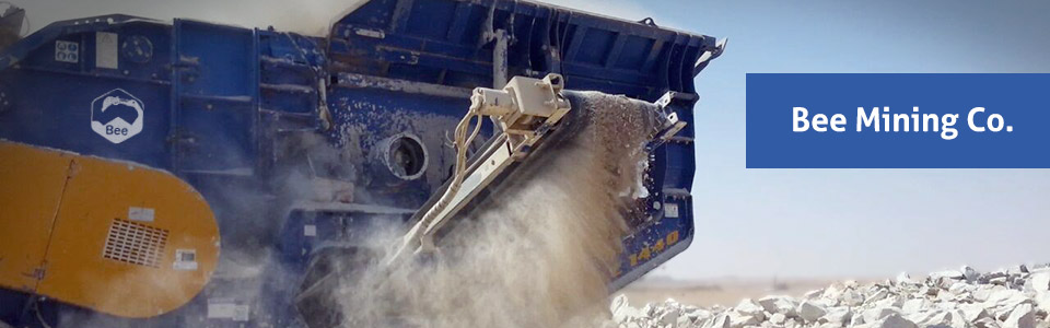 Bee mining is producing cement row materials using large fleet of equipments